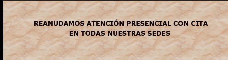 REANUDAMOS ATENCIÓN PRESENCIAL
